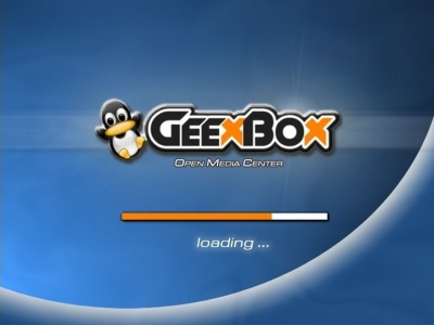GeeXboX 1.1 Boot Screen