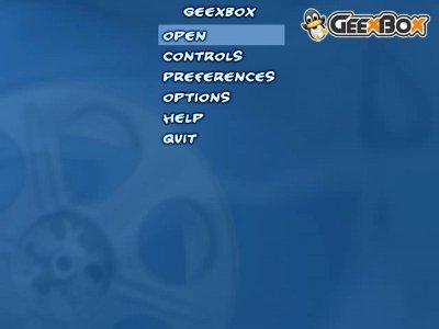 GeeXboX 1.1 Menu