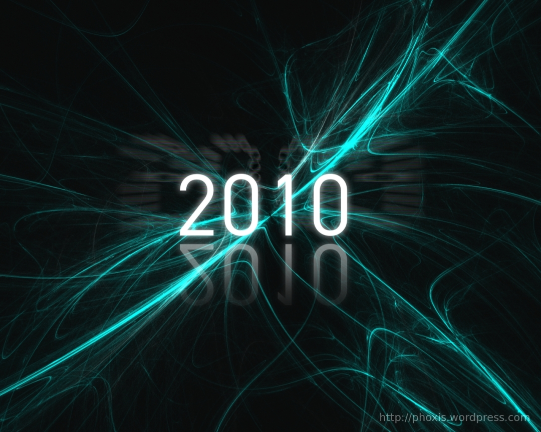 new year 2010 wallpaper final product
