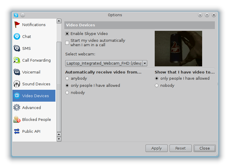 Fix dark video in Skype for Linux – Phoxis